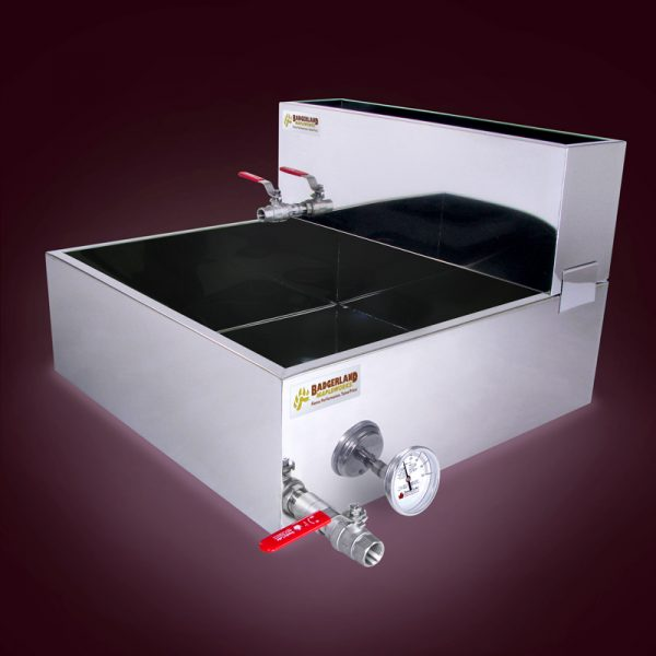 2x2 Flat Pan with Feed Pan, Valve and Thermometer