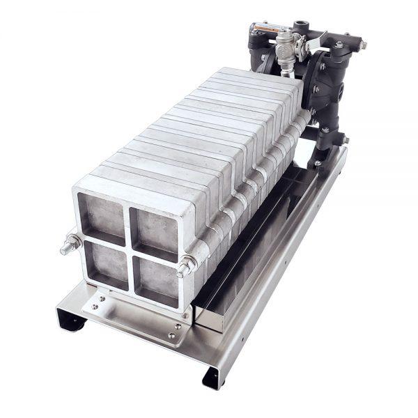 Filter Press, Long Platform, 20-Filter, Air Pump